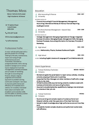 James Innes Group - CV Center - Belgium (BE) - CV Resume Example 6