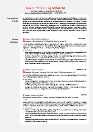 James Innes Group - CV Center - Belgium (BE) - CV Resume Example 2