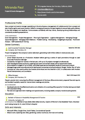 James Innes Group - CV Center - Belgium (BE) - CV Resume Example 4